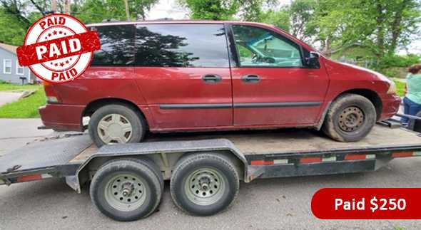 Paid  Cash for 2000 Ford Windstar car in Kansas City